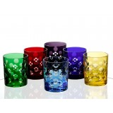 Bubbles Dark Cased Crystal DOF Set of 4