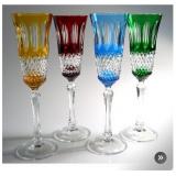 Adel Crystal Champagne Flute Set of 4