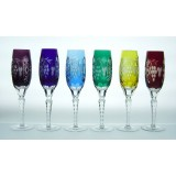 Marsala Flute Set of 4 by Ajka